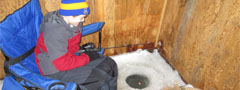 Ice fishing huts available to rent on Interior Lakes