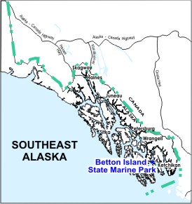 Betton Island SMP location map