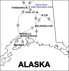 Chena River SRA Location Map