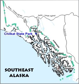 Chilkat State Park Location Map