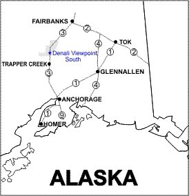 Denali Viewpoint South Location Map