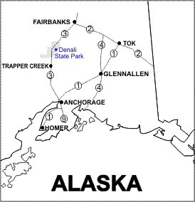 Denali State Park Location Map