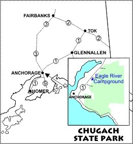 Map to Eagle River Campground