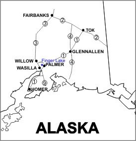 Finger Lake Location Map