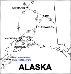 Fort Abercrombie Location Map