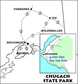 Glen ALps Day Use Area Location Map