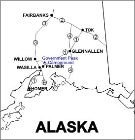 Government Peak Campground Location Map