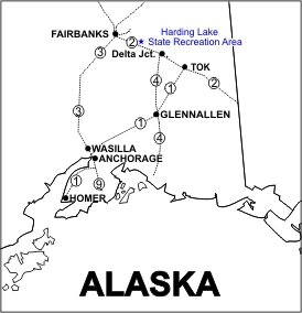 Harding Lake SRA Location Map