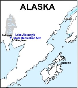 Lake Aleknagik SRS Location Map