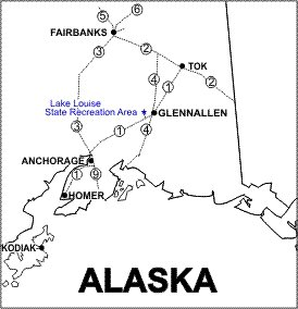 Lake Louise State Reacreation Area Location Map