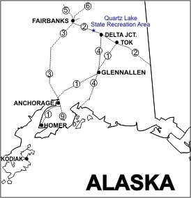 Quartz Lake SRA Location Map