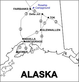 Rosehip Campground Location Map