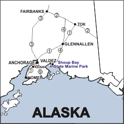 Shoup Bay Location Map