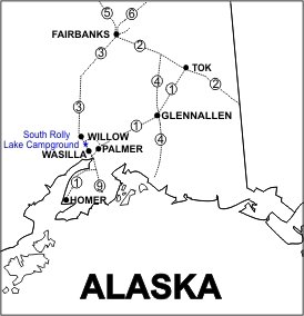 South Rolly Lake Campground Location Map