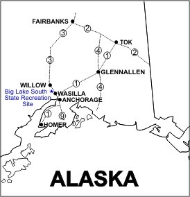 Location of Big Lake South