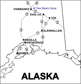 Twin Bears Camp Location Map