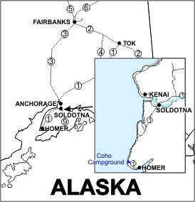 Coho Campground Location Map
