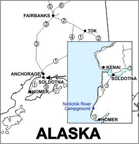 Ninilchik River Campground Location Map