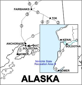 Ninilchik State Recreation Area Location Map