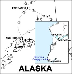 Silverking Campground Location Map