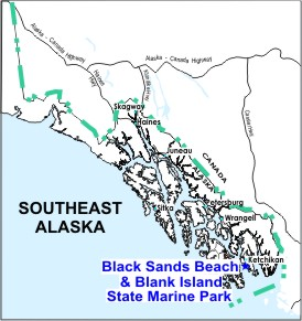 Black Sands Location Map
