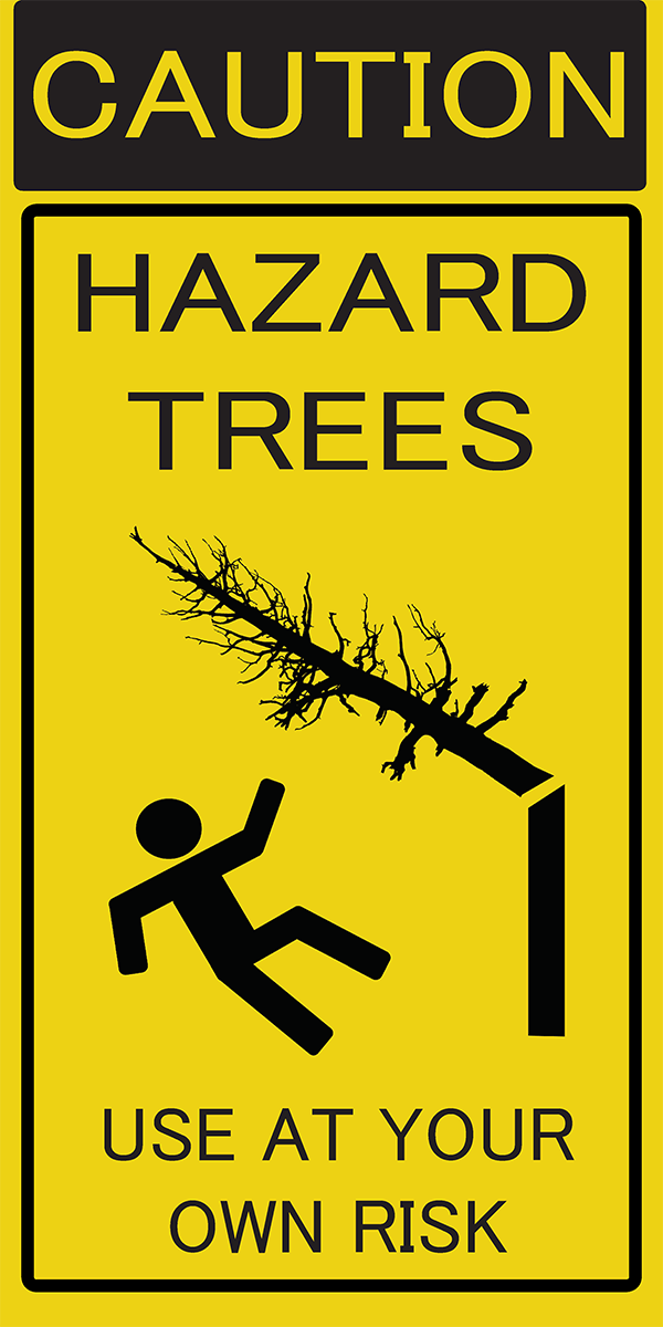 Caution: Falling trees