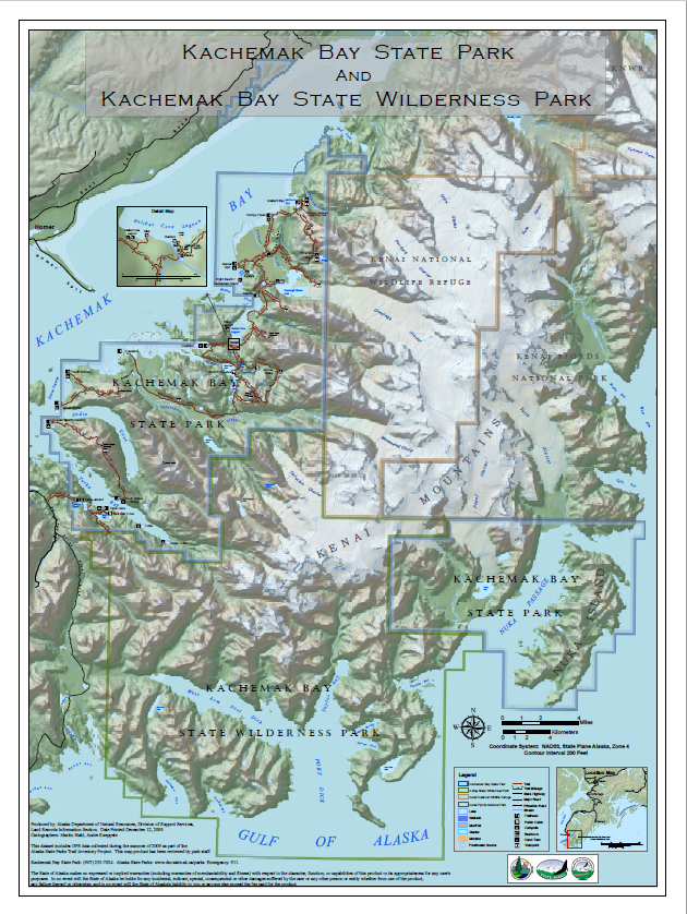 Kachemak Bay SP Map small