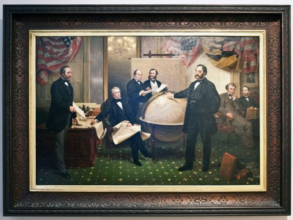 "Leutze's ""Signing of the Alaska Treaty"""