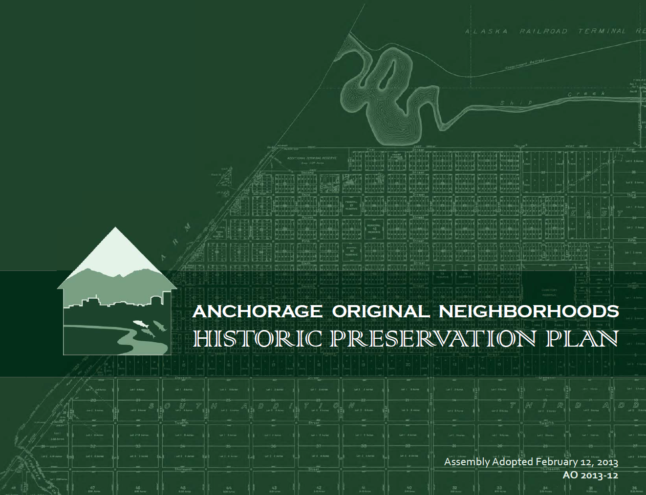 Cover of Anchorage Preservation Plan