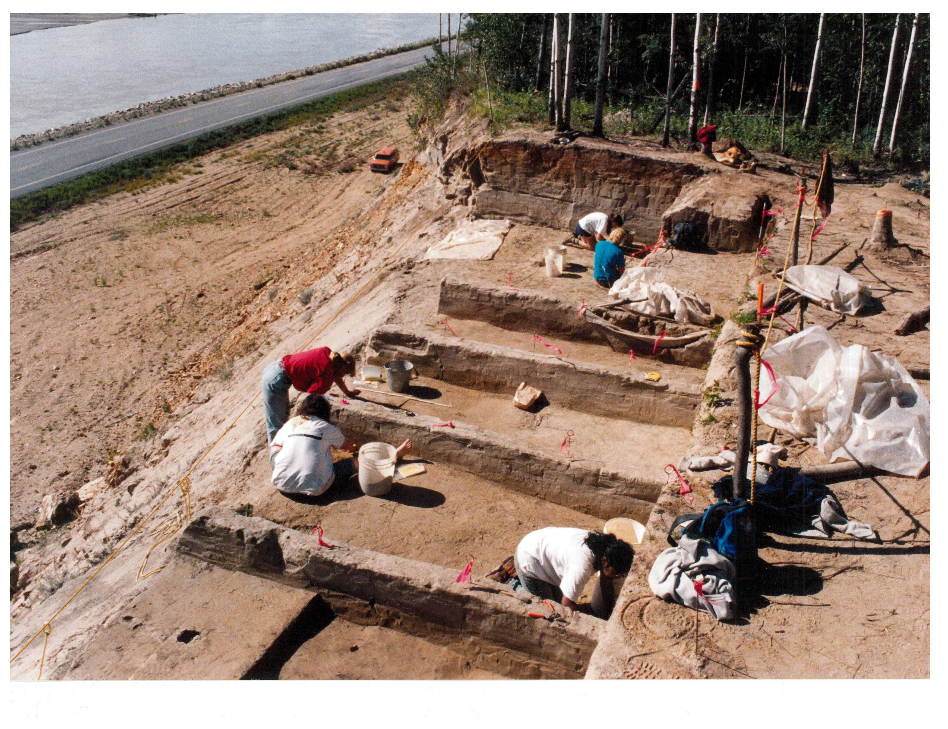 Excavations, 1991. Photo by Dr. Charles Holmes