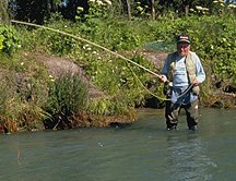 Man fishing on the Kenai