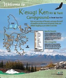 K'esugi Ken Tent Campground Interpretive Panel
