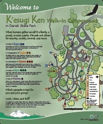 K'esugi Ken Walk In Campground Interpretive Panel