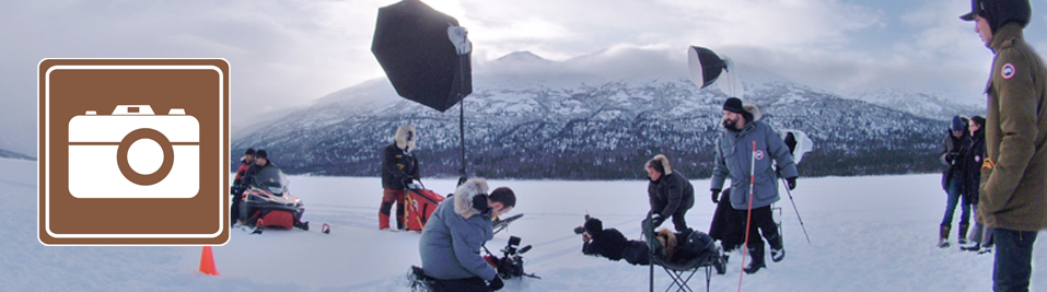 Photo shoot on Eklutna Lake