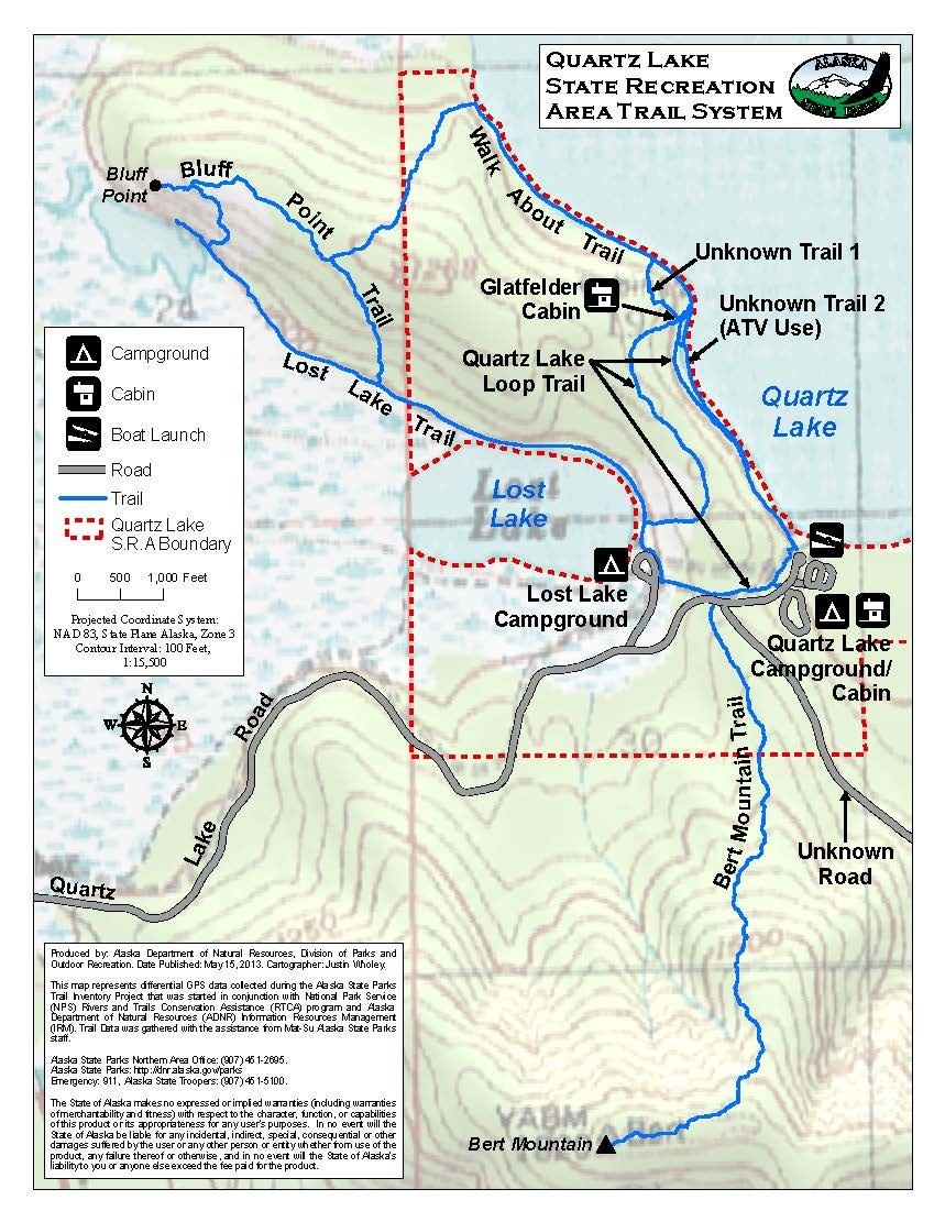 Bluff Alaska Map.Quartz Lake Sra Map