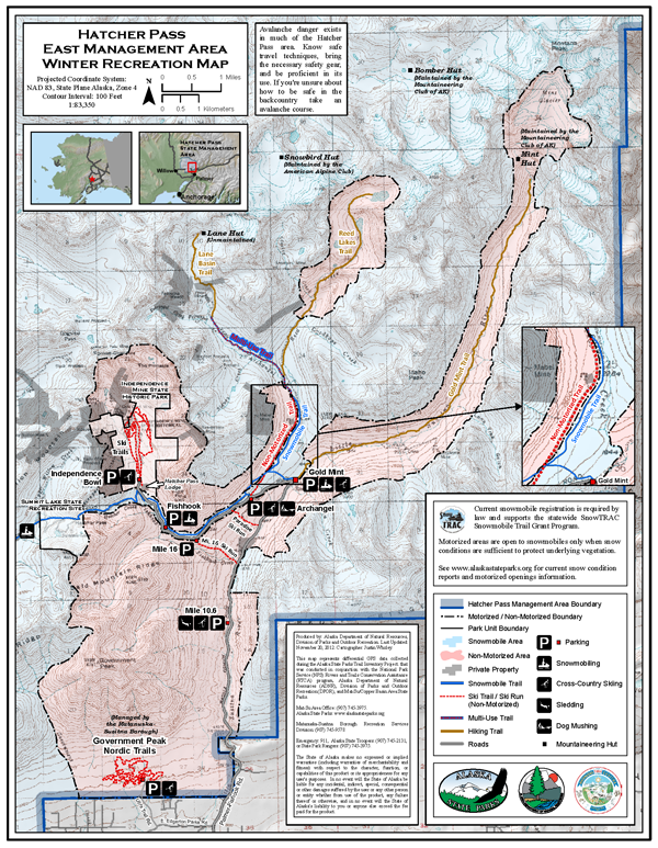 Hatcher Pass EMA Winter Rec map 2012