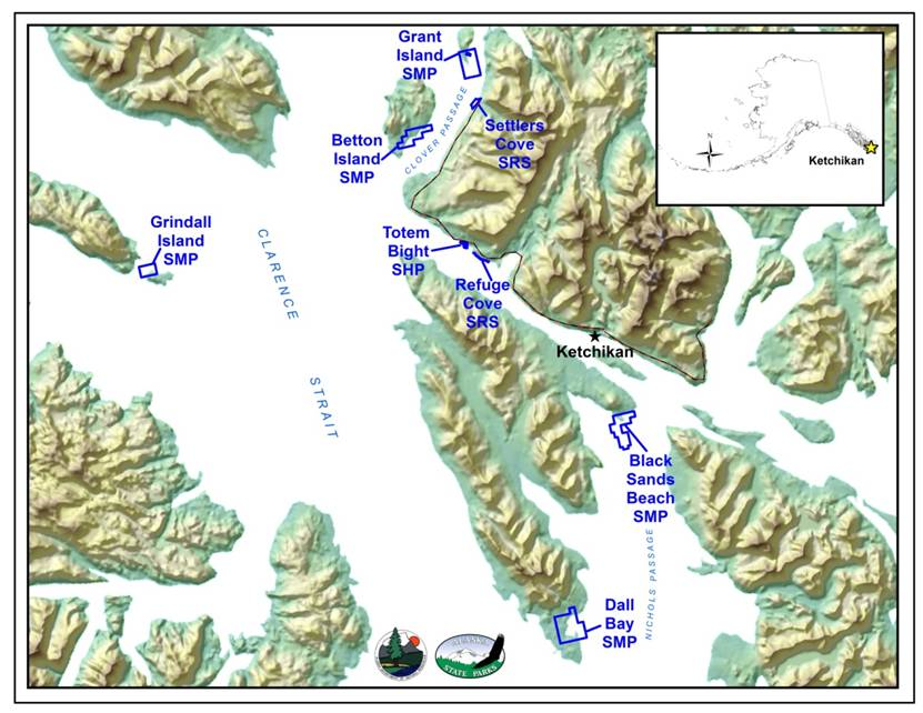 Ketchikan Area Map