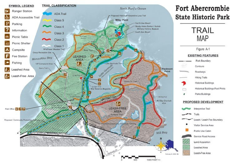 Fort Abercrombie Trail Map
