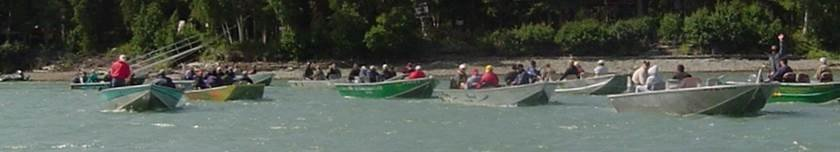 Boaters on Kenai River