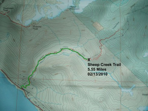 Sheep Creek Trail Map