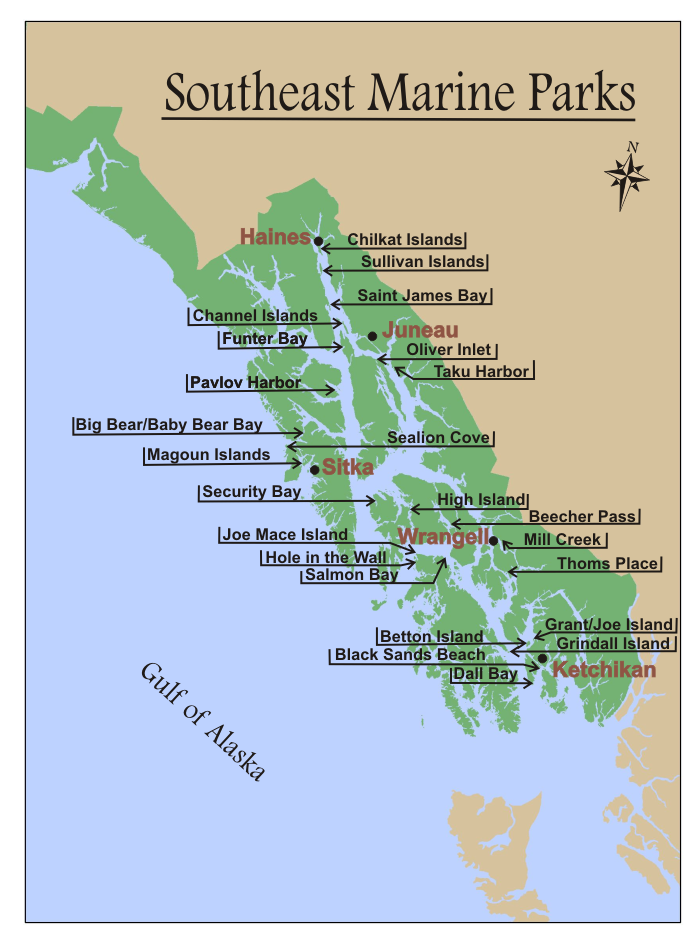 South East Marine Parks Map
