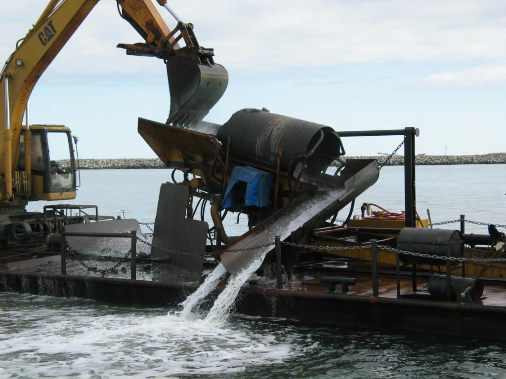 Una imagen de la minería en alta mar de Nome