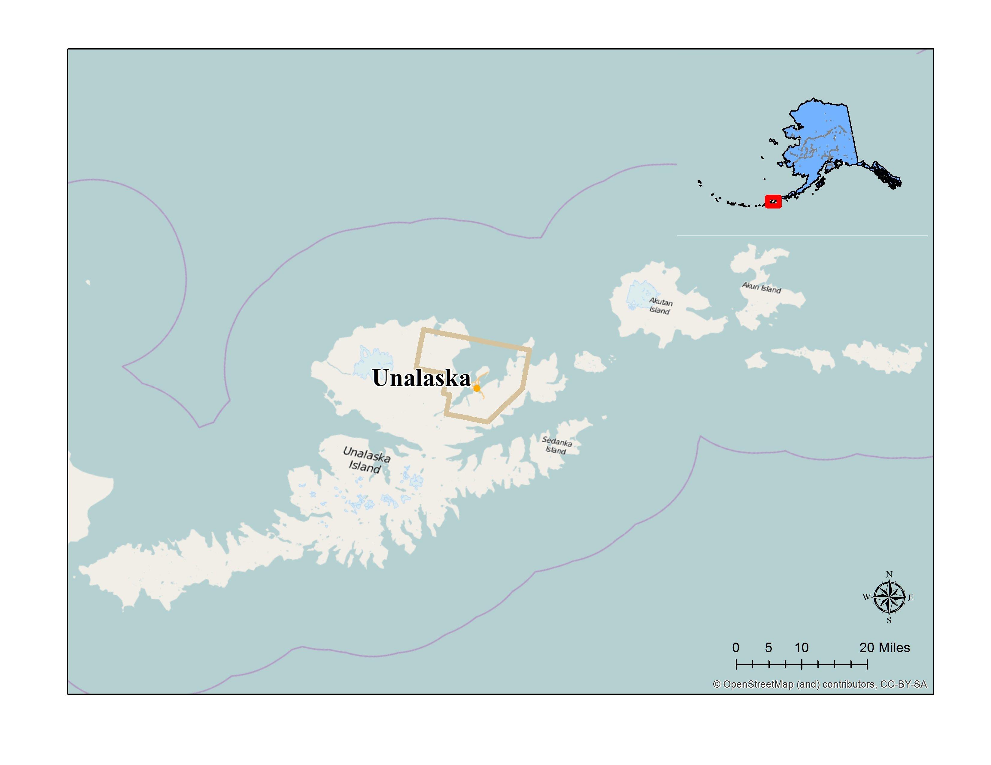 Unalaska Island Map Unalaska, Certified Local Government